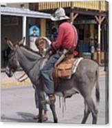Prospector Re-enactor With Fan Allen Street Tombstone Arizona 200 Canvas Print