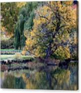 Prosser - Autumn Reflection With Geese Canvas Print