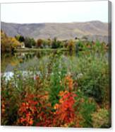 Prosser Autumn River With Hills Canvas Print