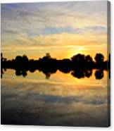 Prosser Sunset - Blue And Gold Canvas Print