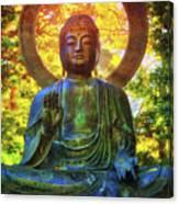 Protection Buddha #2 In Japanese Tea Garden At Golden Gate Park - San Francisco Canvas Print