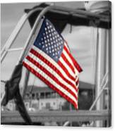 Proud Nautical American  Canvas Print