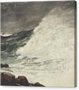 Prouts Neck Breaking Wave Canvas Print