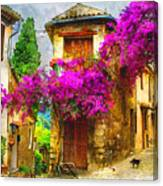 Provence Street Canvas Print
