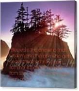 Proverbs102 Canvas Print