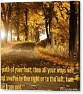 Proverbs104 Canvas Print