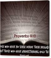 Proverbs106 Canvas Print