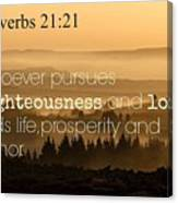 Proverbs109 Canvas Print