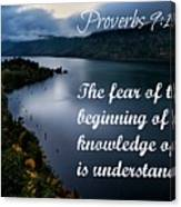 Proverbs114 Canvas Print
