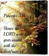 Proverbs115 Canvas Print
