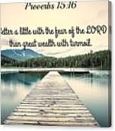 Proverbs116 Canvas Print