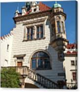 Pruhonice Castle Side View Canvas Print