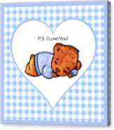 Ps I Love You - Boy Bear Canvas Print