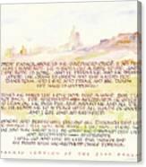 Psalm 23 Navajo Version  Canvas Print