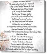 Psalm 34 Pg 2 Canvas Print