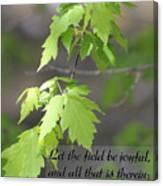 Psalm 96 12 Be Joyful Canvas Print