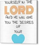 Psalms 374 Canvas Print