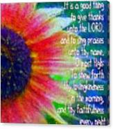 Psalms 92 1 2 Canvas Print
