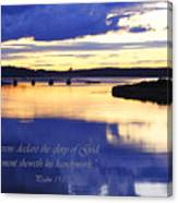 Psalm Reflected At Acadia National Park Two Canvas Print
