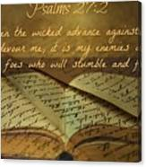 Psalms101 Canvas Print