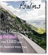 Psalms103 Canvas Print
