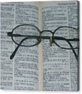 Psaumes 124 Canvas Print