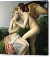 Psyche Receiving The First Kiss Of Cupid Canvas Print