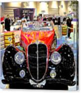 Psychedelic 1947 Delahaye 135m Letourner Et Marchand Cabriolet Canvas Print