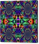 Psychedelic Abstract Kaleidoscope Canvas Print
