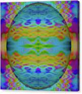 Psychedelic Egg Groovy Canvas Print