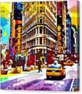 Psychedelic Flatiron Surroundings Canvas Print