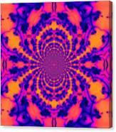 Psychedelic Mandelbrot Set  Kaleidoscope Canvas Print