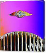 Psychedelic Morgan 4/4 Badge And Radiator Canvas Print
