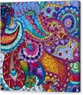 Psychedelic Paisley Canvas Print