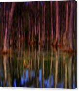 Psychedelic Swamp Trees Canvas Print