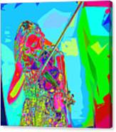 Psychedelic Violinist Canvas Print