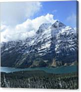 Ptarmigan Trail Overlooking Elizabeth Lake 5 - Glacier National Park Canvas Print