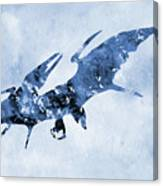 Pterodactyl-blue Canvas Print