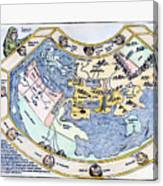 Ptolemaic World Map, 1493 Canvas Print