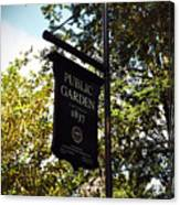 Public Garden 1837 Boston Canvas Print