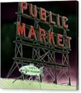 Public Market Canvas Print