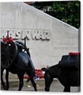 Public Memorial Honoring Military Animals In War London England Canvas Print