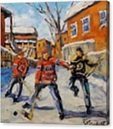Puck Control Hockey Kids Created By Prankearts Canvas Print