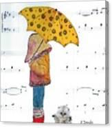 Puddle Hop Canvas Print