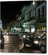 Puebla At Night 1 Canvas Print