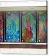 Pueblo Downtown Artwork Canvas Print