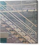 Pueblo Downtown Fire Escape Canvas Print