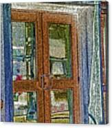 Pueblo Downtown--thatcher Building Door Canvas Print