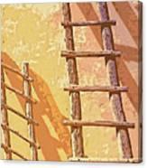 Pueblo Ladders Canvas Print