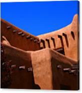 Pueblo Revival Style Architecture In Santa Fe Canvas Print